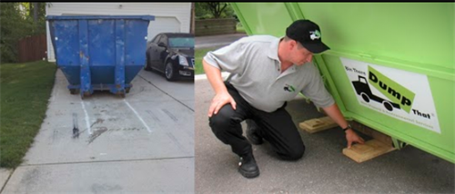 Why Risk Your Driveway to Scrapes, Dents, Gouges or Cracks?  All of our Bins arrive with driveway protection boards