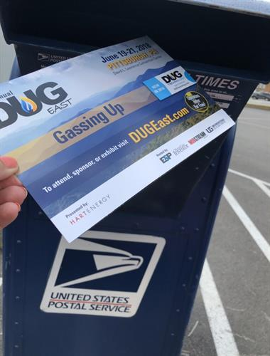 """Mailing DUG EAST Invites to the O & G Industry!"""