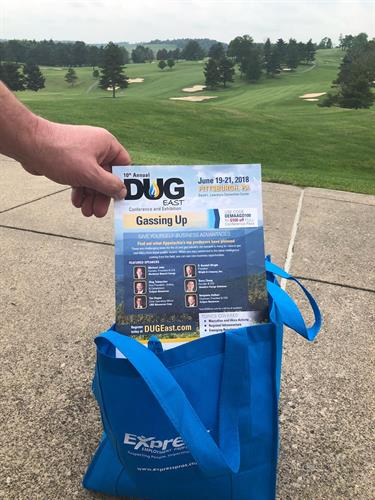 """DUG EAST has it in the bag...at the PAAC Golf Event!"""