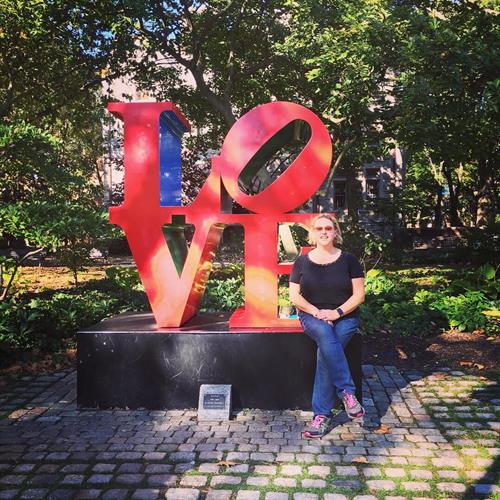 IAC loves touring colleges wherever we go, and here's owner Jen Partica on the campus of the Univ. of Pennsylvania in Philadelphia