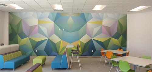 Wall graphics for an office