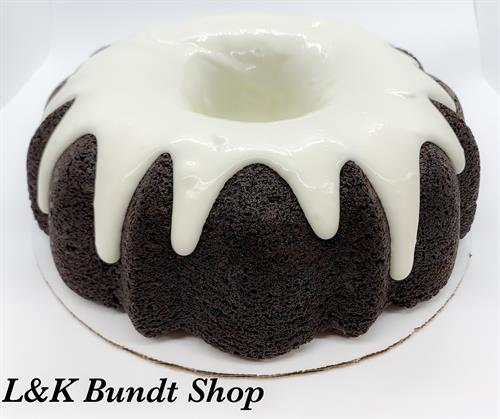 Large Chocolate Bundt with Vanilla Frosting