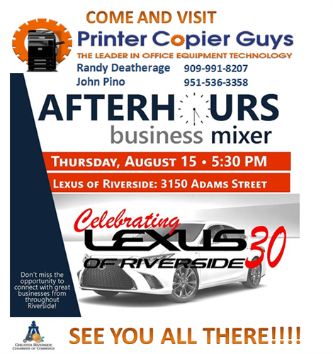 Lexus 30 Business Mixer Aug. 15, 2019