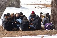 Group Discussion after an activity at Cedar Lake Camp in Big Bear Lake