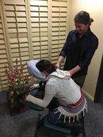 Chair massage on site is also available, in addition to table massage and more!