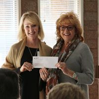 Thank you to First Mountain Bank for your $10K donation to the Foundation. Pictured are Debbie Richardson, Senior Vice President, FMB and Foundation President Holly Elmer.