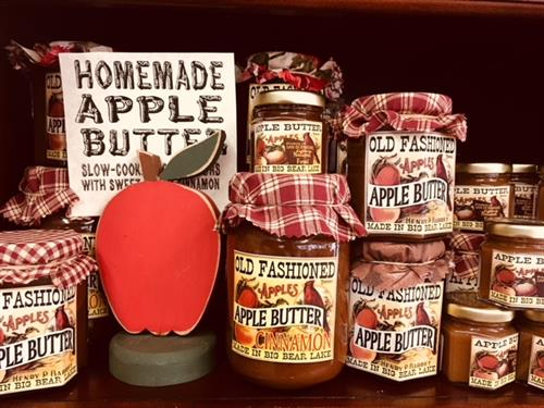 Our homemade apple butter is slow cooked for 16 hours.
