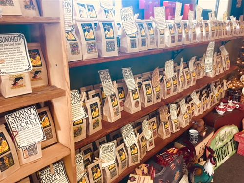 We make over 50 loose leaf teas including black, green, herbal, white and organic.