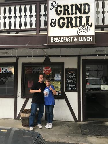 Eric and Heather Smith became the owners of Grind and Grill Cafe on December 19, 2019-- their 27th Anniversary!