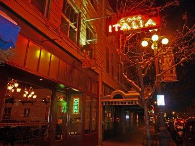 Cafe Italia at Night