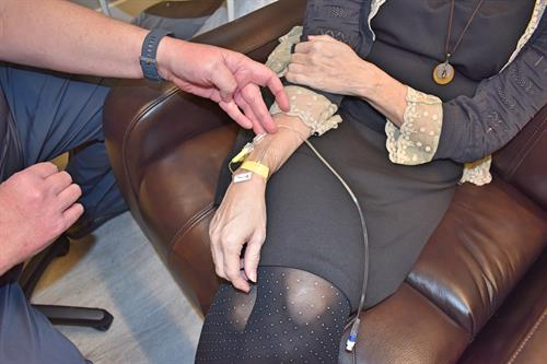 A Patient Infusing