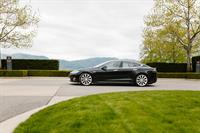 Tesla Model S p85 at Mission Hill Winery