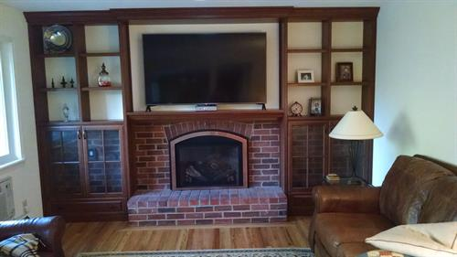 Updated Wood Fireplace Surround