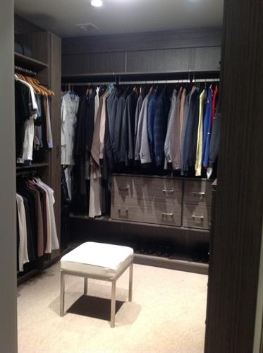 A Master Closet where everything has a spot