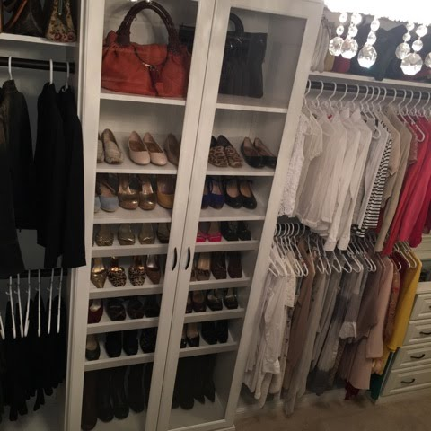 Showcase your shoe collection behind a beautiful window door