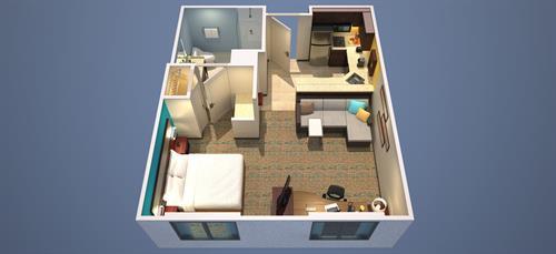 Suite - Floor Plan for Studio Single King