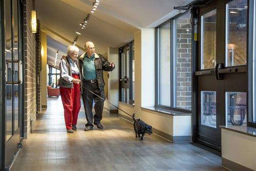 Residents enjoy living independently- pets welcome!