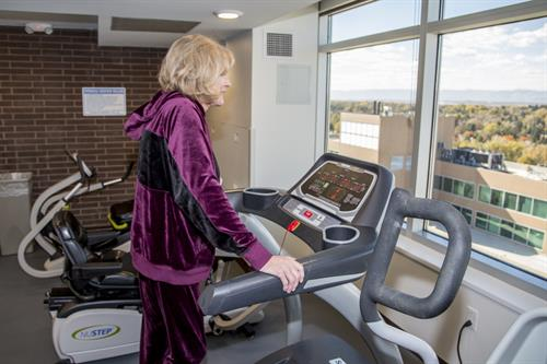 Our Health and Wellness Center promotes an active lifestyle.
