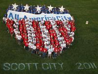 Citizens celebrated Scott City's designation as an All-America City by the National Civic League in 2011 by forming a Living Logo!