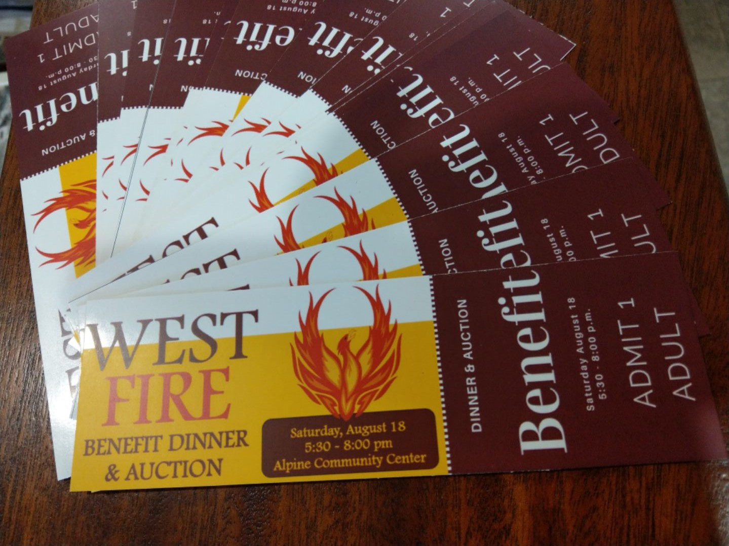 Alpine to hold major benefit for West Fire survivors