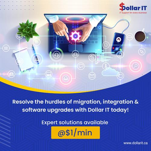 Say goodbye to the problems of migration, software upgrades and much more with expert guidance!  Connect with us today at $1/min Visit www.dollarit.ca #itsupport #windows #computerrepair #laptop #itsolutions #itservices #microsoft #cybersecurity #apple #technews #pc #it #computers #informationtechnology #software #laptoprepair #smallbusiness #datarecovery #support #business #techsupportlife #computertech #ittech