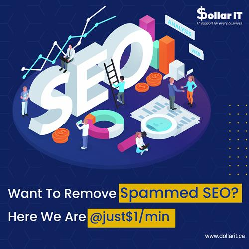 Trying hard to get rid of Spammed SEO?  Call our experts for $1/min Visit www.dollarit.ca today! #itsupport #windows #computerrepair #laptop #itsolutions #itservices #microsoft #cybersecurity #apple #technews #pc #it #computers #informationtechnology #software #laptoprepair #smallbusiness #datarecovery #support #business #techsupportlife #computertech #ittech