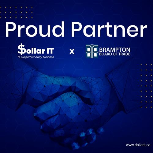 We are so thrilled to announce that we  Dollar IT  are now a proud partner of Brampton Board of Trade  Excited to explore new avenues and grow stronger! Stay tuned with us for all the latest updates and services related to IT. Visit www.dollarit.ca #ittech #itservices #ITGuys #ITsupport #proudpartners #partnership #bramptonboardoftrade