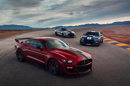 The 2020 Mustang Shelby GT500 lineup