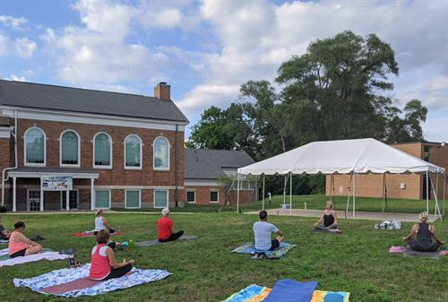 Yoga on the South Lawn