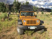Jeeping to the Chuckwagon Adventure site on a private ranch.
