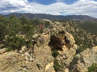 Amazing views of Fremont County from Overlook Arch
