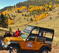 Fall colors in the high country on the Gold Belt Tour.