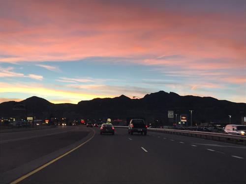 Beautiful Sunset in Canon City