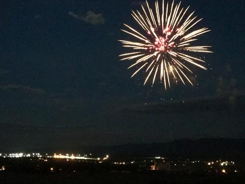 Fireworks in Fremont County