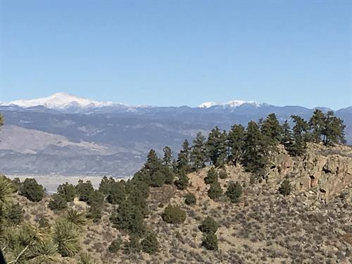 View of Pikes Peak from CR 255 in Fremont County