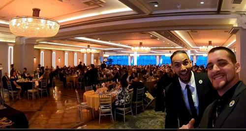 Speaking on stage and giving value to over 400+ business owners at the New York Chamber of Commerce Gala Event.