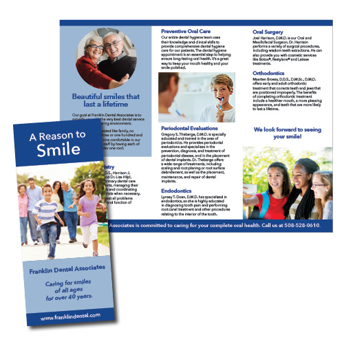 Franklin Dental Associates brochure, Franklin, MA