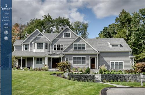 Custom home builder website. https://www.corrigandevelopments.com