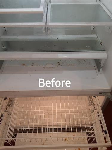 Before Photo of Refrigerator Cleaning