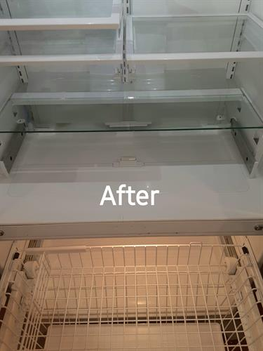 After Photo of Refrigerator Cleaning