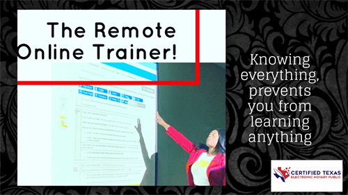 Remote Online notary trainer