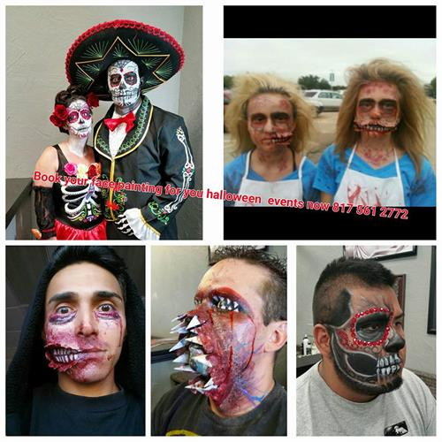 Face painting By Pete Salais Owner of Pistol Petes Tattoo Saloon