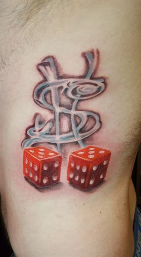 DICE By Pete Salais Owner of Pistol Petes Tattoo Saloon