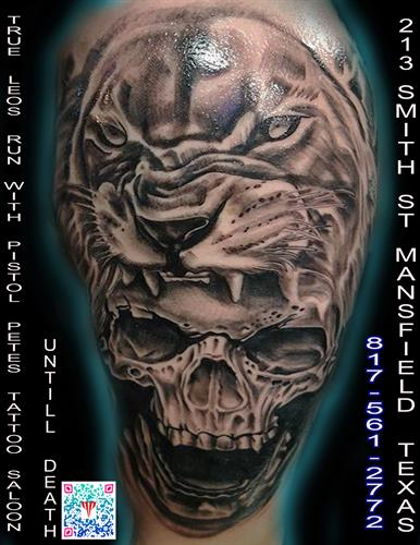leo till death By Pete Salais Owner of Pistol Petes Tattoo Saloon