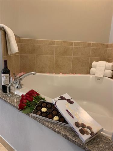 Whirlpool Tub for Two with our Romance Package
