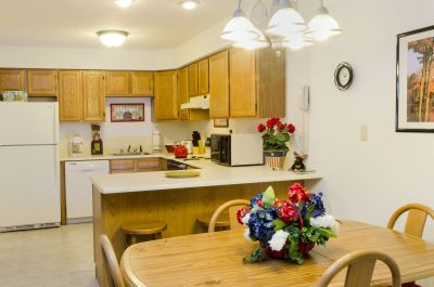 Full kitchens and dining area