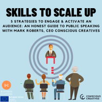 Skills to Scale Up - 5 Strategies to Engage & Activate an Audience: An Honest Guide to Public Speaking with Mark Roberts, CEO Conscious Creatives