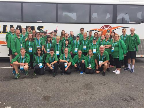 Special Olympics Cornwall en route to SOGB National Games Sheffield August 2017