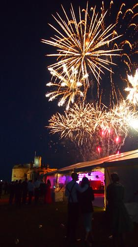 Fireworks at Graduation Ball, Pendennis Castle