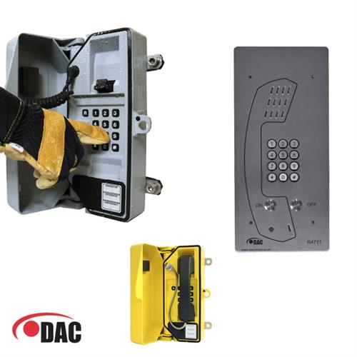 Vandel and weather resistant telephone for GSM applications developed for DAC Ltd.